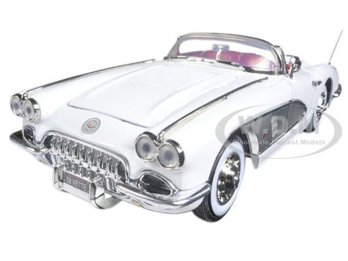 1958 Chevrolet Corvette White Timeless Classics 1/18