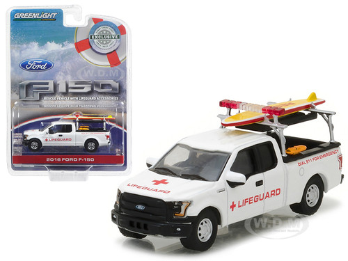 Ford F  With Lifeguard Accessories Hobby Exclusive  Cast Model Car Greenlight