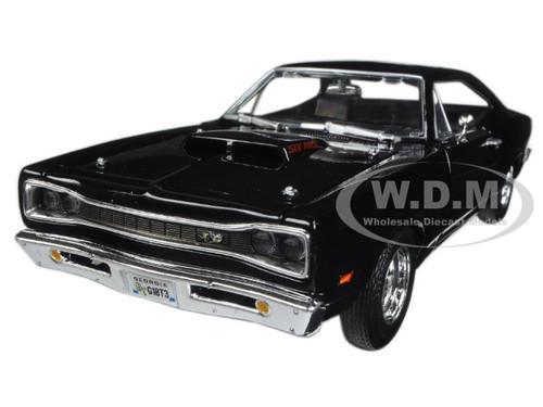 1969 Dodge Coronet Super Bee Black 1/24 Diecast Model Car Motormax 73315