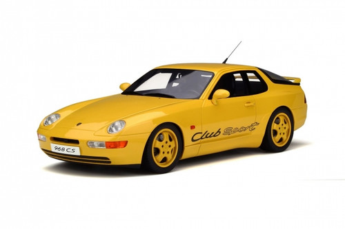 Porsche 968 Club Sport Yellow Limited Edition to 1250pcs 1/18 Model Car GT Spirit GT129