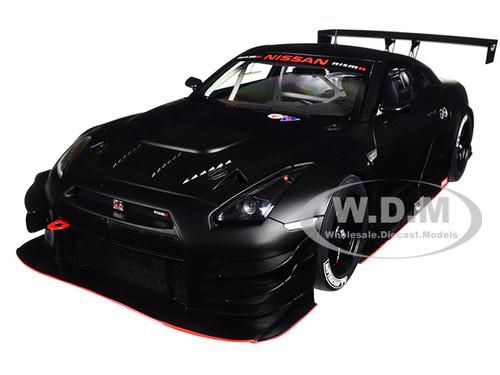 Nissan GT R Nismo GT3 Matt Black 1 18 Model Car Autoart 81580