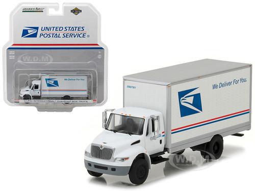 2013 International Durastar Box Truck United States Postal Service (USPS) HD Trucks Series 9 1/64 Diecast Model Greenlight 33090 B