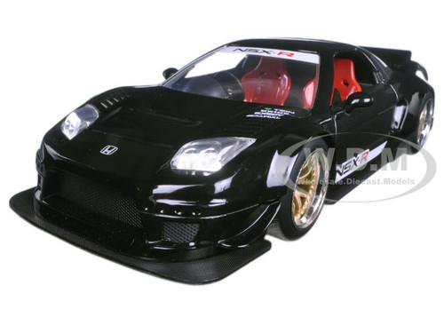 2002 Honda NSX Type-R Japan Spec Black Widebody JDM Tuners 1/24 Diecast Model Car Jada 98566