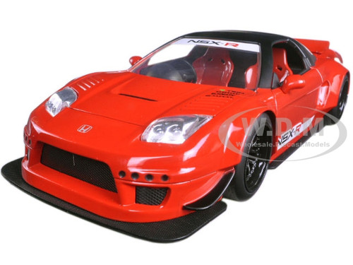 2002 Honda NSX Type-R Japan Spec Gloss Red Widebody JDM Tuners 1/24 Diecast Model Car Jada 99066