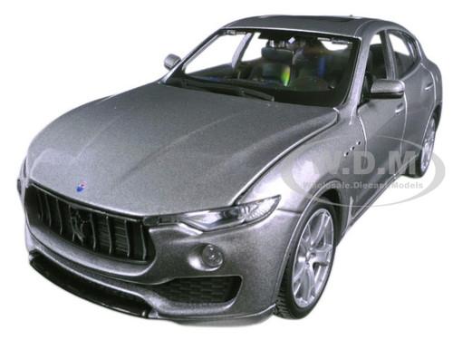 Maserati Levante Silver 1/24 Diecast Model Car Bburago 21081