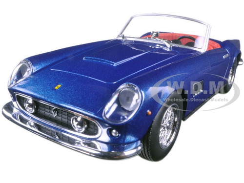 Ferrari 250 GT California Blue 1/24 Diecast Model Car Bburago 26020