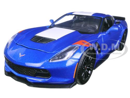 2017 Chevrolet Corvette Grand Sport Blue 1/24 Diecast Model Car Maisto 31516