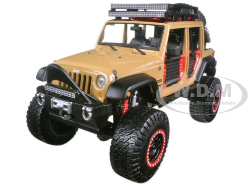 2015 Jeep Wrangler Unlimited Brown Off Road Kings 1/24 Diecast Model Car Maisto 32523