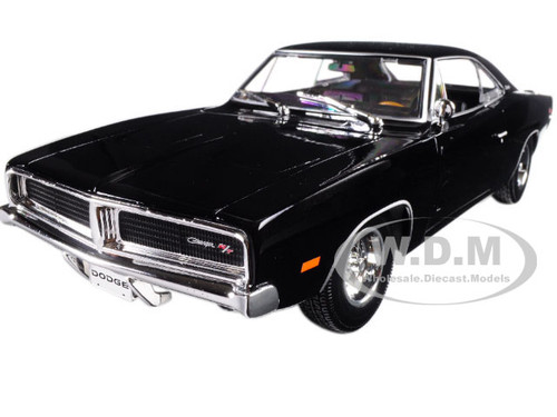 1969 Dodge Charger R/T Black 1/18 Diecast Model Car Maisto 31387