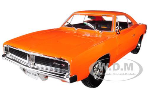1969 Dodge Charger R/T Orange 1/18 Diecast Model Car Maisto 31387