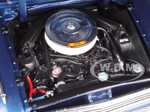 1963 Ford Falcon Hard Top Oxford Blue 1/18 Diecast Model Car by Sunstar
