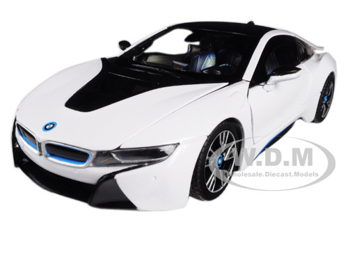 BMW I8 White 1/24 Diecast Model Car Rastar 56500