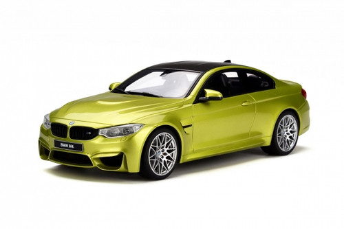 BMW M4 Competition Package Austin Yellow 1/18 Model Car GT Spirit GT164