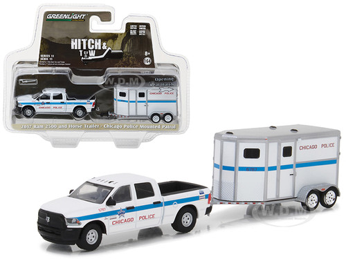 Dodge ram 2500 and horse trailer chicago police mounted patrol 2017 dodge ram 2500 and horse trailer chicago police mounted patrol hitch tow series 11 164 diecast car sciox Images