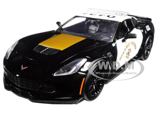 2015 Chevrolet Corvette C7 Z06 Highway Patrol Police Car 1/24 Diecast Model  Car Maisto