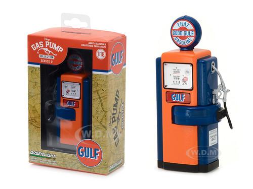 1948 Wayne 100-A Gas Pump Gulf Oil That Good Gulf Gasoline Gas Pump Replica Vintage Gas Pump Series 2 1/18 Diecast Model Greenlight 14020 B