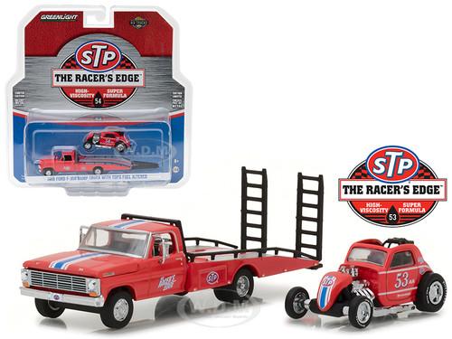 1968 Ford F-350 Ramp Truck STP & Topo Fuel Altered HD Trucks Series 10 1/64 Diecast Models Greenlight 33100 C