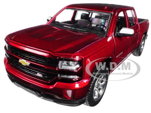 2017 Chevrolet Silverado 1500 LT Z71 Crew Cab Metallic Red 1/27 Diecast Model Car Motormax 79348