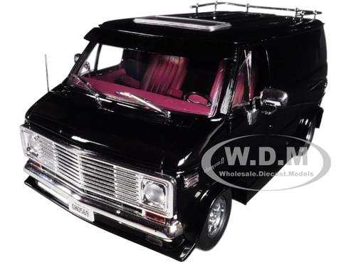 1976 Chevrolet G-Series Van Black Limited Edition 1/18 Diecast Car Model Highway 61 18002