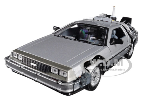 Delorean from movie Back To The Future 2 Flying Version 1/24 Diecast Car Model Welly 22499 FV