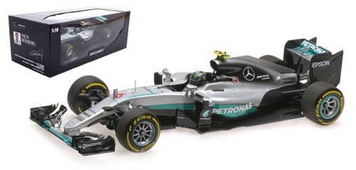Mercedes AMG Petronas F1 Team #6 W07 2016 Hybrid Nico Rosberg World Champion Abu Dhabi GP 2016 1/18 Model Car Minichamps 110160706