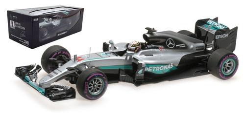 Mercedes AMG Petronas F1 Team #44 W07 2016 Hybrid Lewis Hamilton Winner Abu Dhabi GP 2016 1/18 Model Car Minichamps 110160744