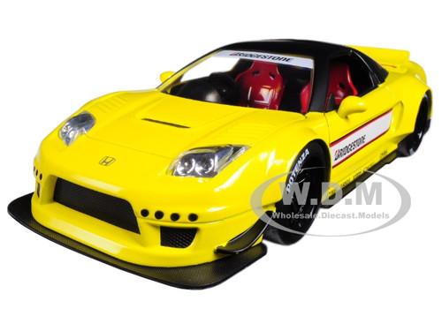 2002 Honda NSX Type-R Japan Spec Yellow Widebody JDM Tuners 1/24 Diecast Model Car Jada 99480
