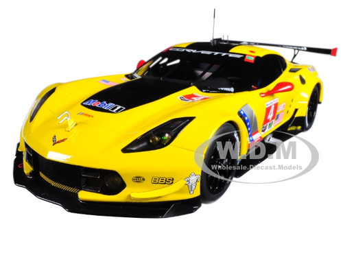 Chevrolet Corvette C7 R #4 Lime Rock 2016 Winner Oliver Gavin Tommy Milner The 100th Win of Corvette Racing Team 1/18 Model Car Autoart 81606