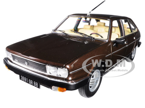 1981 Renault 30 Tx Bronze Brown 118 Diecast Model Car Norev 185271
