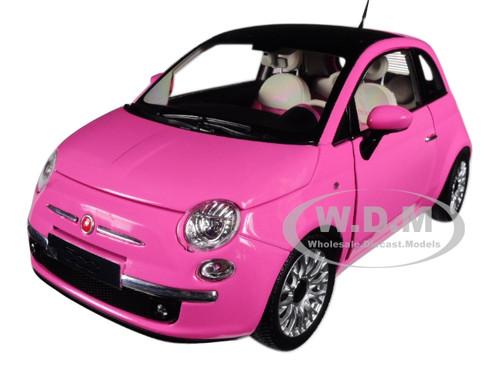2010 Fiat 500 Pink 1 18 Diecast Model Car Norev 187752