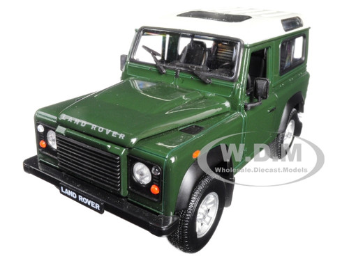 Land Rover Defender Green 1/24 1/27 Diecast Model Car Welly 22498