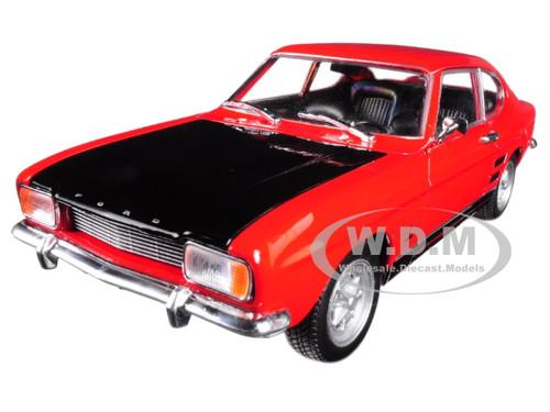 1969 Ford Capri Red 1/24 1/27 Diecast Model Car Welly 24069