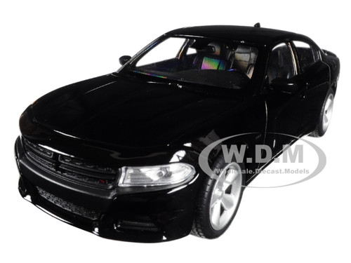 2016 Dodge Charger R/T Black 1/24 - 1/27 Diecast Model Car Welly 24079