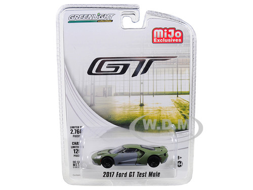 2017 Ford GT Test Mule Limited Edition to 2760 pieces Worldwide 1/64 Diecast Model Car Greenlight 51143