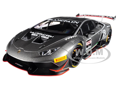 2015 Lamborghini Huracan Super Trofeo Dark Gray #63 1/18 Model Car Autoart 81559