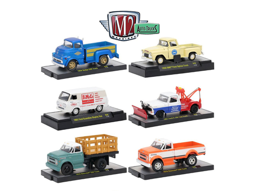 auto trucks 6 piece set release 46 in display cases 1 64 diecast model cars m2 machines 32500 46. Black Bedroom Furniture Sets. Home Design Ideas