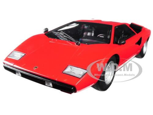 Lamborghini Countach Lp400 Red 1 18 Diecast Model Car Kyosho C 09531 R