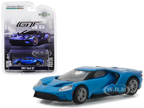 Ford Gt Blue Hobby Exclusive  Cast Model Car Greenlight