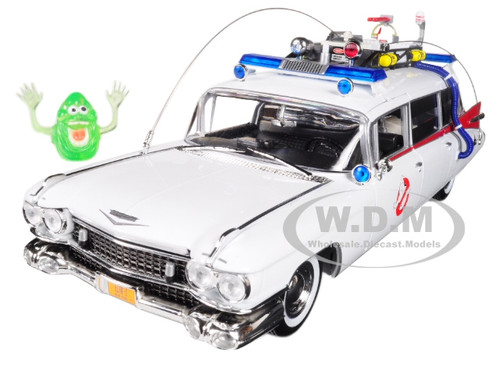 Cadillac ECTO 1 Ghostbusters with Slimer  AWSS118 1:21 Autoworld