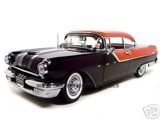 1955 Pontiac Star Chief Black Platinum 1/18 Diecast Model Car Sunstar 5042