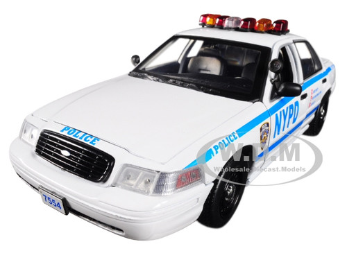 Jamie Reagan's 2001 Ford Crown Victoria Police Interceptor NYPD from Blue Bloods 2010 TV Series 1/18 Diecast Car Model Greenlight 13513