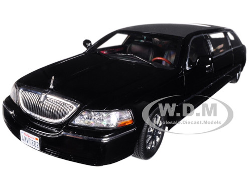 2003 LINCOLN TOWN CAR LIMO LIMOUSINE VIBRANT WHITE 1//18 DIECAST BY SUNSTAR 4201