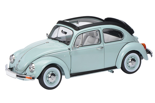 Volkswagen Beetle Kafer 1600i with Folding Roof Ultimate Edition Aquarius Blue 1/18 Model Car Schuco 450029300