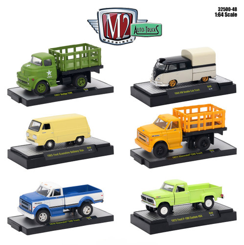 auto trucks 6 piece set release 48 in display cases 1 64 diecast model cars m2 machines 32500 48. Black Bedroom Furniture Sets. Home Design Ideas
