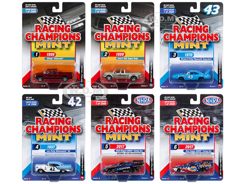 2018 Mint Release 1 Set B 6 Cars 1/64 Diecast Models Racing Champions RC007 B