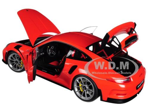 PORSCHE 911 991 GT3 RS LAVA ORANGE 1//18 MODEL CAR BY AUTOART 78168