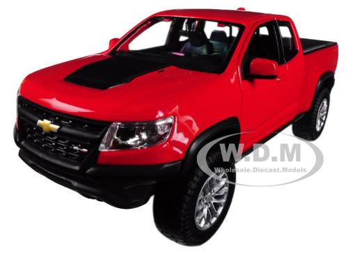 Maisto 1:27 2017 Chevrolet Colorado Pickup Diecast Racing Car Vehicle Model Red