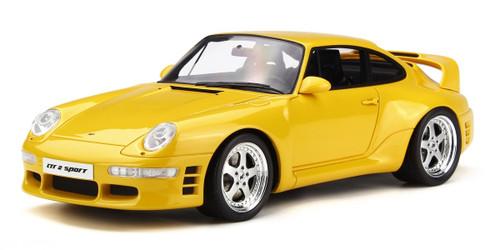 Porsche RUF CTR 2 Sport Yellow Limited Edition 500 pieces Worldwide 1/18 Model Car GT Spirit GT141