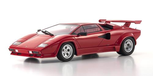 Lamborghini Countach LP5000 Quattrovalvole Red Limited Edition 500 pieces Worldwide 1/18 Model Car Kyosho KSR18504R