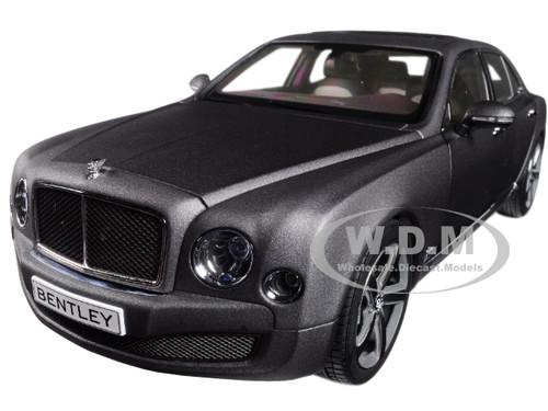 Bentley Mulsanne Speed Matte Dark Gray 1/18 Diecast Model Car Kyosho 08910 DGS